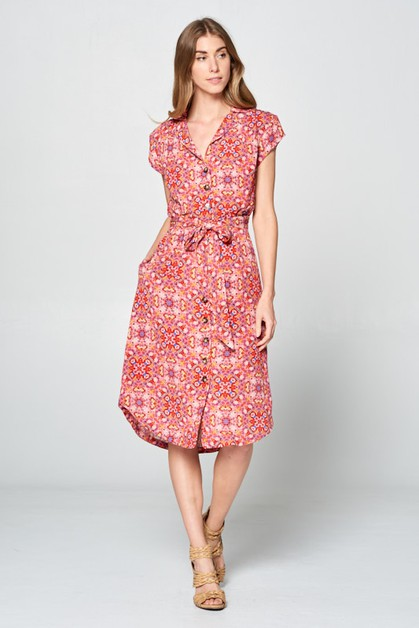GYPSY PRINT DRESS - orangeshine.com