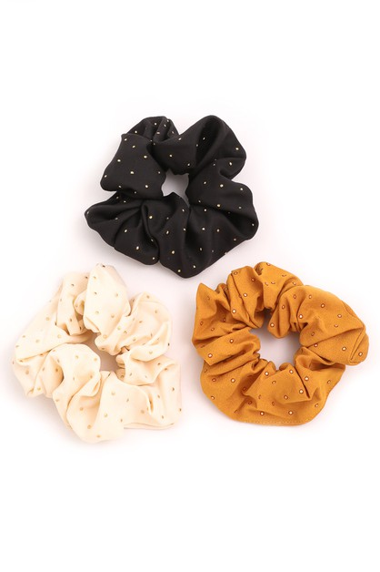 Lightly Studded Scrunchies - orangeshine.com