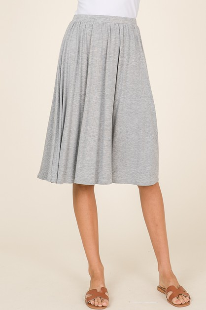 ELASTIC WAISTBAND SKIRT WITH POCKETS - orangeshine.com