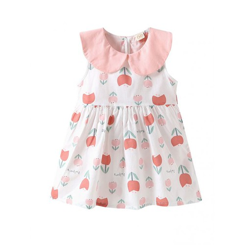 Peterpan collar Tulip Dress - orangeshine.com