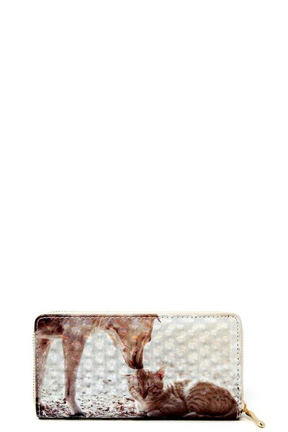 CUTE CAT AND DOG PRINT WALLET - orangeshine.com