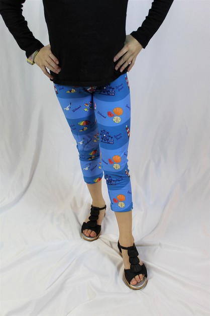 Jersey Shore Beach Capris - Girls  - orangeshine.com
