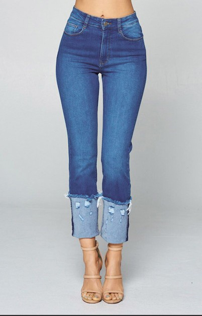 Cuff Ankle Jeans - Skinny Jeans - orangeshine.com