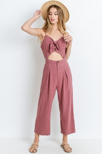 Tie Front With Detailed Body Suit - orangeshine.com