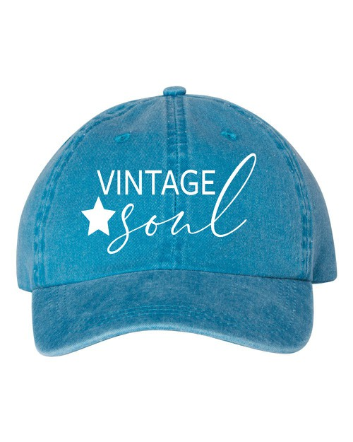 Vintage Soul Embroidered Hat - orangeshine.com