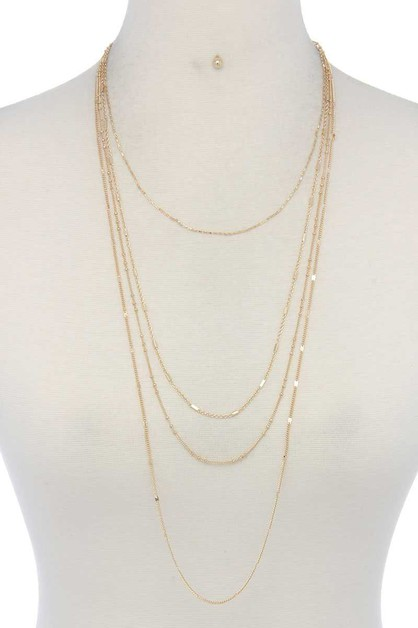 METAL LAYERED NECKLACE - orangeshine.com