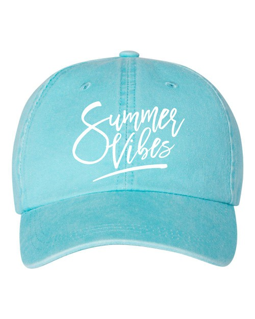 Summer Vibes Embroidered Hat - orangeshine.com