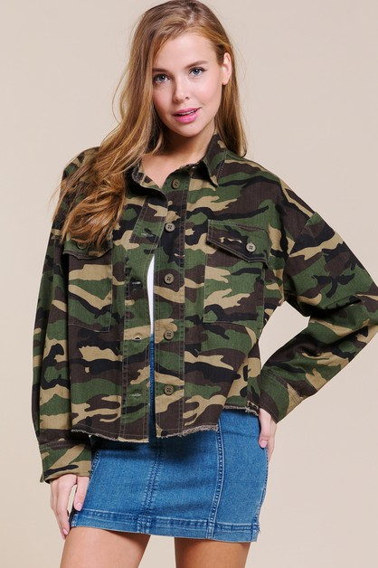 CAMO COTTON TWILL JACKET - orangeshine.com