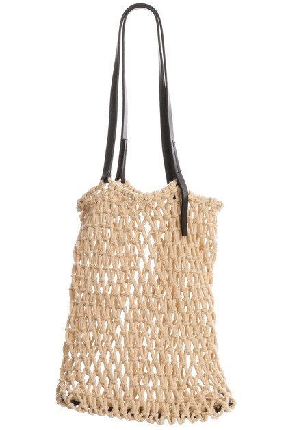 Fishnet Faux Leather Tote Bag - orangeshine.com