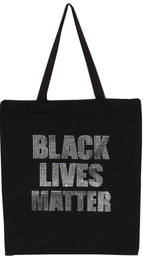 BLACK LIVES MATTER Clear Rhinestone  - orangeshine.com
