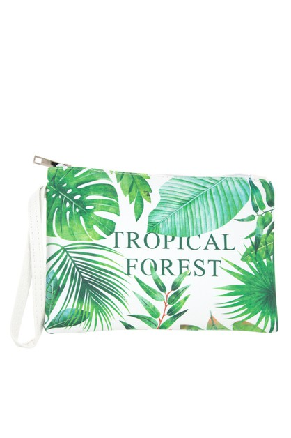 TROPICAL FOREST MINI POUCH BAG - orangeshine.com