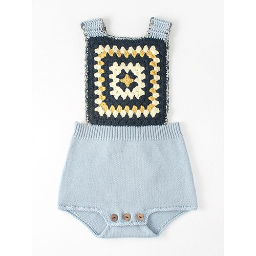 Knitted Cotton Romper - orangeshine.com