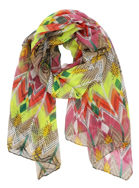 Geo Print Abstract Oblong Scarf - orangeshine.com