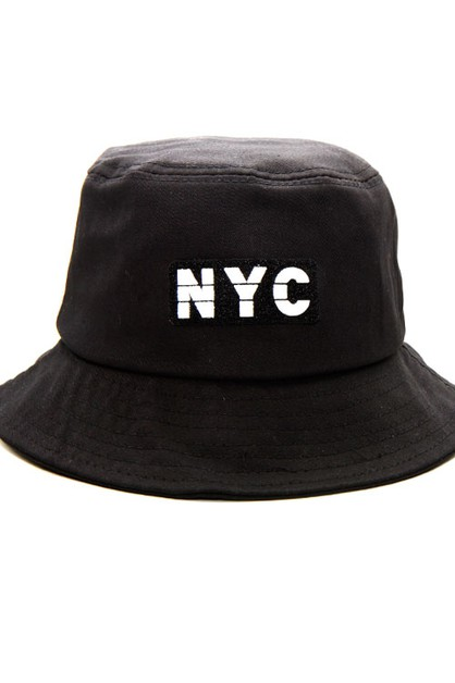 NYC Lettering Bucket Hat  - orangeshine.com