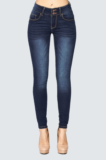SKINNY JEANS - SOLID DENIM - orangeshine.com
