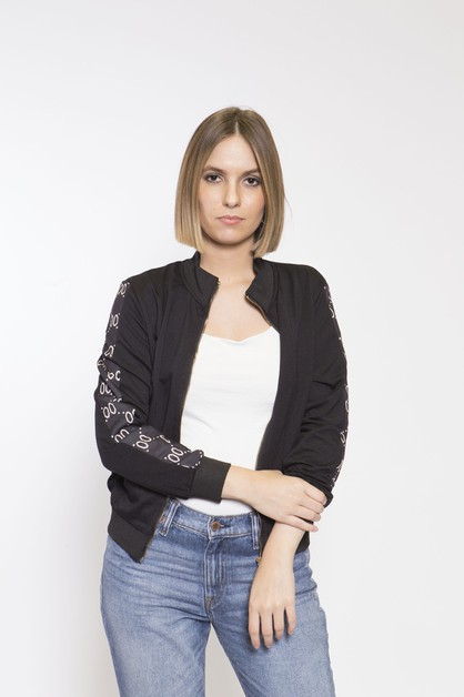 trendy side print jacket - orangeshine.com