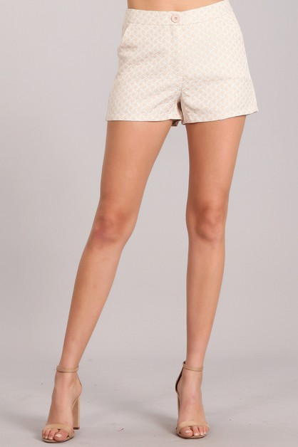 Textured Shorts - orangeshine.com