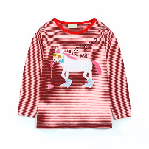 Girls Applique Horse top - orangeshine.com