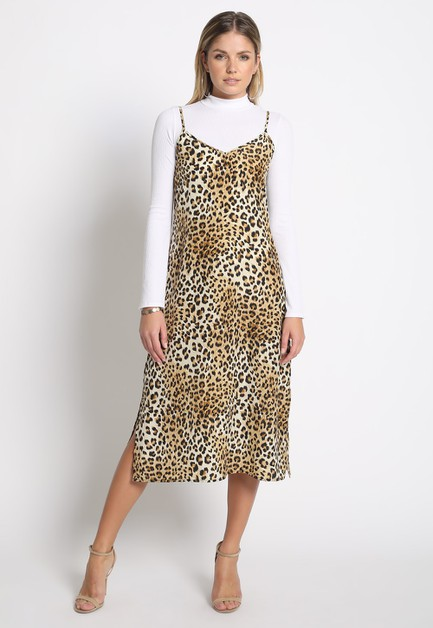 LEOPARD PRINT MIDI DRESS - orangeshine.com