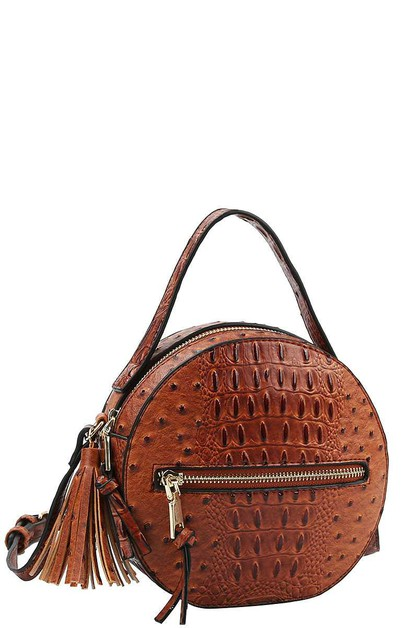 CUTE TASSEL ROUND SHOULDER BAG - orangeshine.com