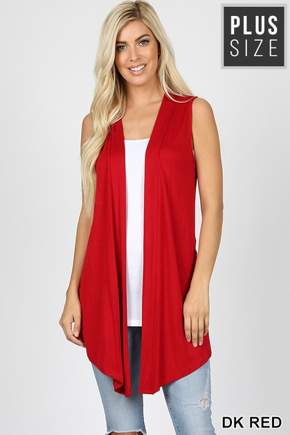 PLUS DRAPEY OPEN-FRONT CARDIGAN - orangeshine.com