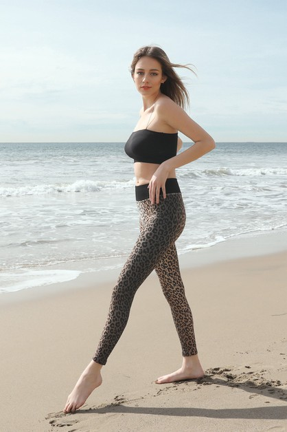 Ombre Leopard Leggings - orangeshine.com