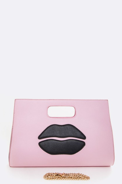 Iconic Lips Contrast Clutch - orangeshine.com