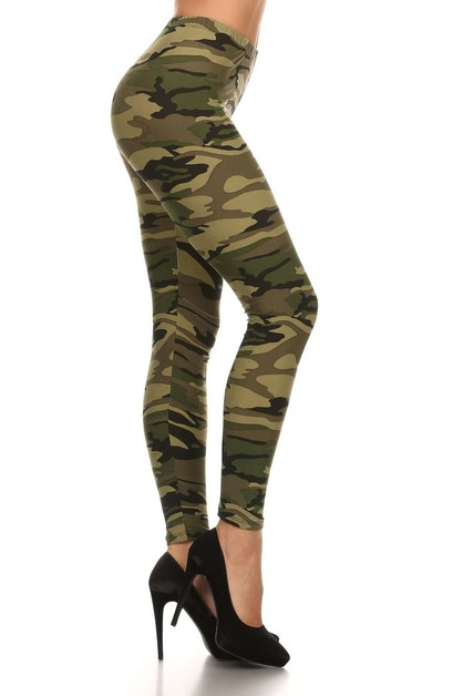 Camouflage print full length fitted  - orangeshine.com