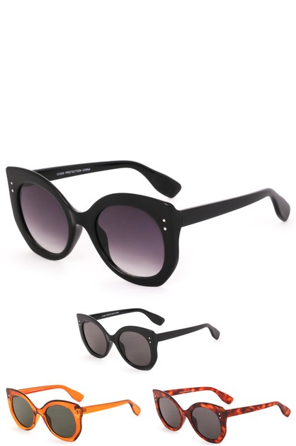 Thick Acetate Frame Sunglasses - orangeshine.com
