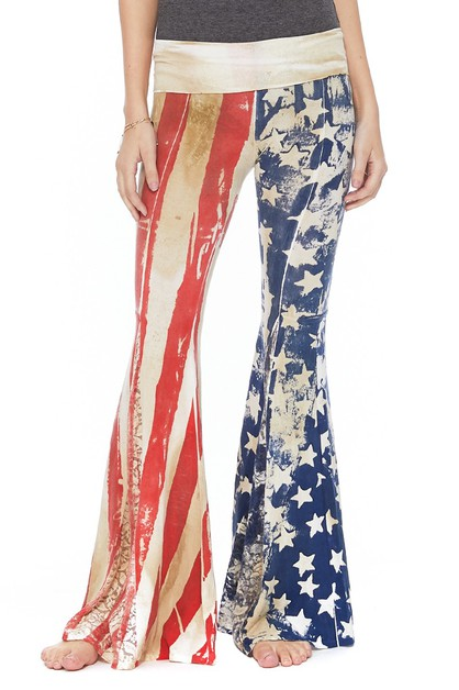 T PARTY AMERICAN FLAG WAISTBAND PANT - orangeshine.com