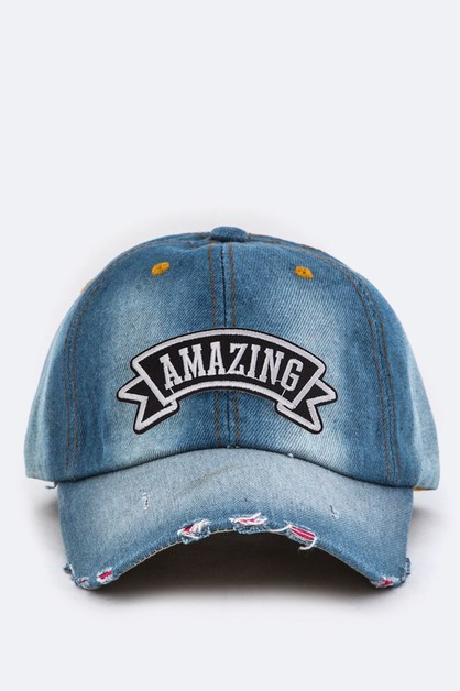 AMAZING Washed Denim Cap - orangeshine.com