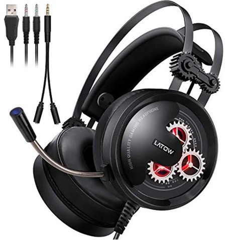 LATOW Stereo Over-Ear Gaming Headset - orangeshine.com