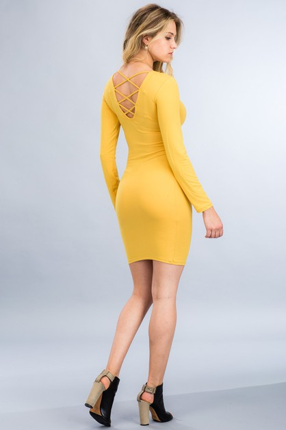Caged-Back Dress - orangeshine.com