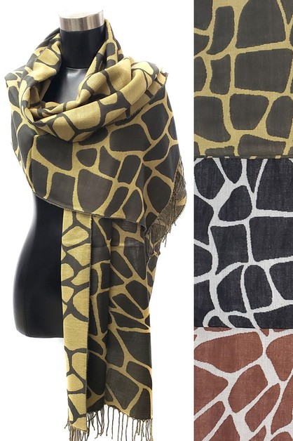 Reversible Leopard Tassel Long Oblon - orangeshine.com