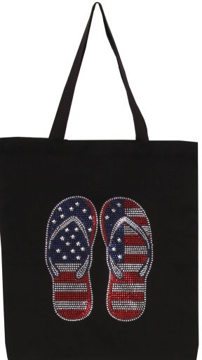 Stars and Stripes Flip Flops  - orangeshine.com