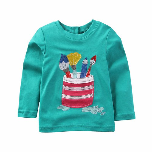 Boys Girls Applique top - orangeshine.com