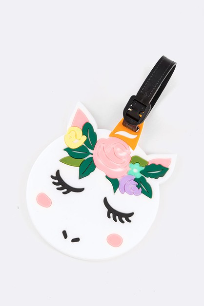 Floral Unicorn Iconic Jelly Luggage  - orangeshine.com