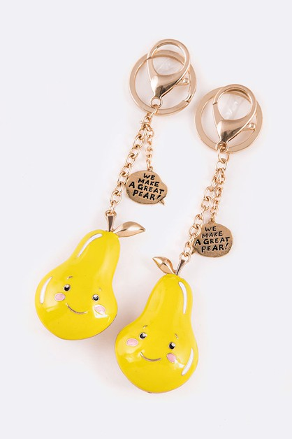 2 Pcs Perfect Pair Enamel Keychain - orangeshine.com