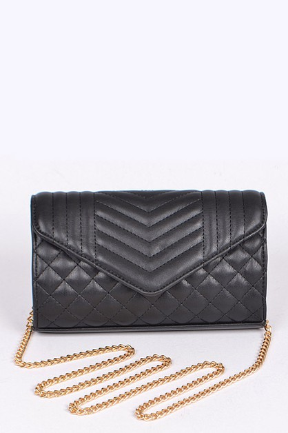 Quilted Fashion Convertible Clutch  - orangeshine.com
