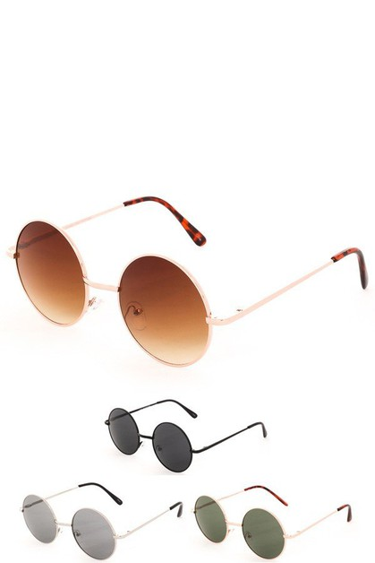 Round Sight Retro Sunglasses - orangeshine.com