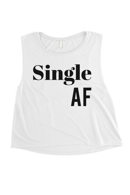 SINGLE AF CROP TEE - orangeshine.com