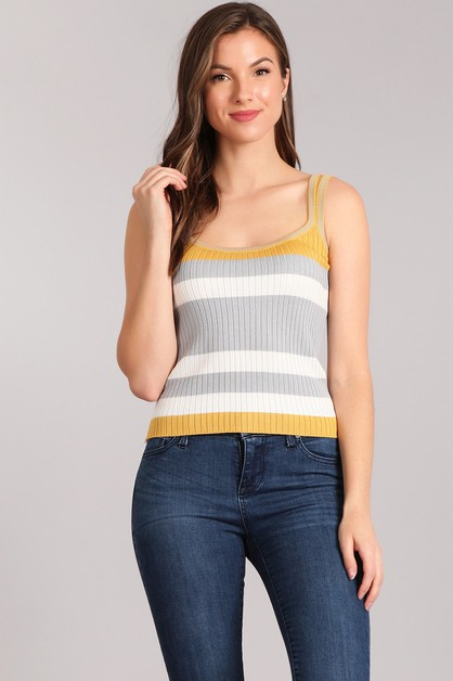 Ribbed Knit Top - orangeshine.com