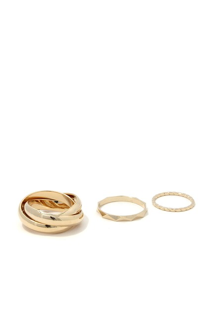 TWISTED METAL RING SET  - orangeshine.com