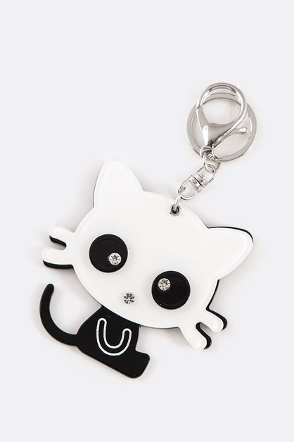 Little Kitty Iconic Mirror Key Chain - orangeshine.com