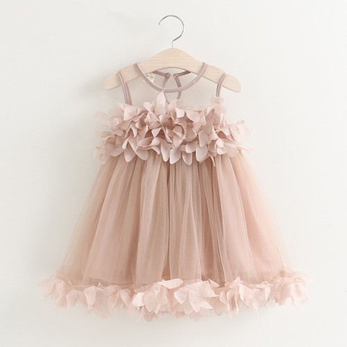 Girls Petals party wedding dress - orangeshine.com