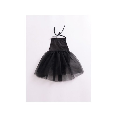 Black backless Tulle Romper - orangeshine.com