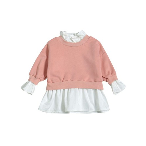2PC Ruffle Blouse with Top Set - orangeshine.com