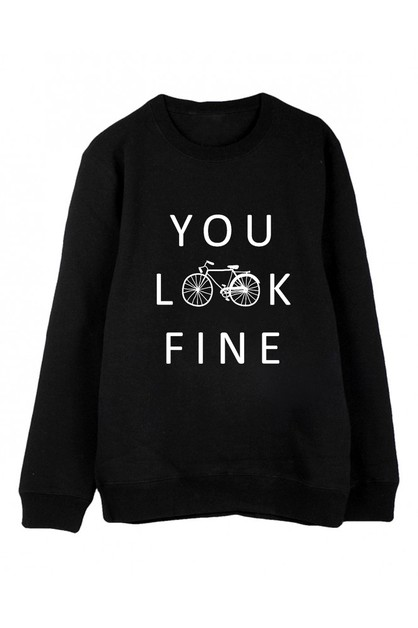 YOU LOOK FINE SWEATER - orangeshine.com