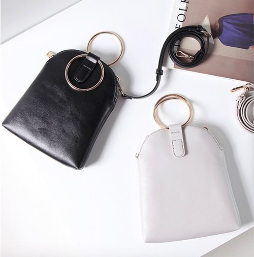 Metal Round Crossbody Bag - orangeshine.com