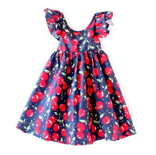Girls FLare sleeve Summer Dress - orangeshine.com